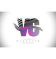 vc v c zebra texture letter logo design vector image vector image