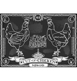 Vintage Blackboard of English Cut of Chicken vector image vector image