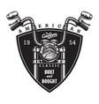 vintage custom american motorcycle logo vector image