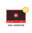 viral marketing with red video player vector image vector image