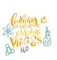 welcom to school hand writing quote typography vector image vector image