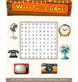 Word puzzle game template with many objects vector image vector image