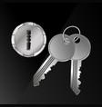 keys and keyhole vector image