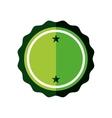 sticker green badge empty icon vector image