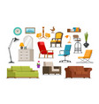interior furnishings furniture store concept vector image