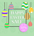 happy easter for sale banner background template vector image