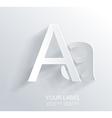 Letter A white paper symbol icon vector image