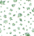 seamless pattern of autumn leaves vector image