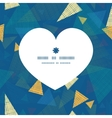 abstract fabric triangles heart silhouette pattern vector image vector image