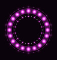 abstract violet round circle vector image