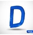 Alphabet Letter D Watercolor Alphabet vector image vector image