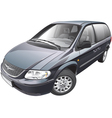 American minivan vector image vector image