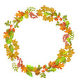 autumn of fall leaf foliage wreath design vector image vector image