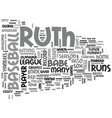 Babe ruth a short bio text word cloud concept