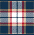 blue red and beige tartan plaid seamless pattern vector image