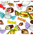 bright candy on a white background - seamless patt vector image
