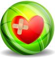Broken heart with plaster vector image