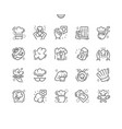 chefs hat well-crafted pixel perfect thin vector image