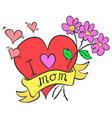 collection stock mother day style vector image vector image