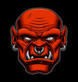 colored of an orc character on the dark background vector image vector image