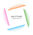 Colorful Abstract Halftone Design Element vector image