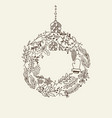 composition with christmas symbols hand drawn vector image vector image