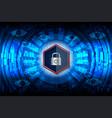 cyber closed padlock vector image