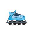 drawing blue skate sport wheels vector image vector image