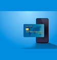 electronic credit card and phone icon finance vector image vector image
