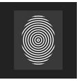 fingerprint modern flat circular lines vector image