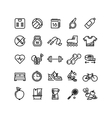 Fitness health sport outline icons vector image vector image