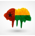 Flag of Guinea Bissau painted colors vector image