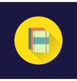 Flat books icon vector image vector image