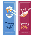 food logo template with tofu dishes vector image vector image