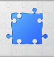 frame blue background puzzle puzzle frame vector image