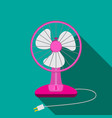 front view of mini electric fan for home with vector image vector image