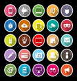Gadget flat icons with long shadow vector image vector image