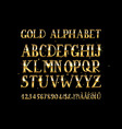 Golden English alphabet vector image vector image