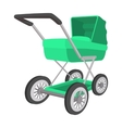 Green buggy cartoon icon vector image