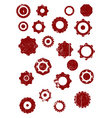 grunge cogs vector image vector image