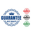 guarantee best quality rubber stamps set in four vector image