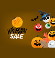 halloween sale banner banner with cute vector image