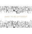 handwritten calligraphy and lettering seamless vector image