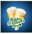happy saint patricks day card template poster vector image vector image
