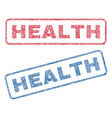 health textile stamps vector image vector image