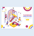 kids playground isometric concept vector image vector image