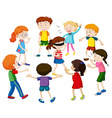 Kids playing blind folded vector image vector image