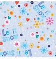 Let it snow winter seamless pattern vector image vector image