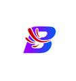 letter b logo creative concept icon vector image vector image