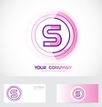 Letter S pink logo vector image vector image